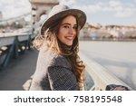 outdoor photo of romantic... | Shutterstock . vector #758195548