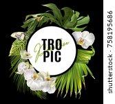 vector botanical round banner...