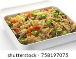 fried rice with vegetables | Shutterstock . vector #758197075