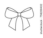christmas bow ribbon decoration ... | Shutterstock .eps vector #758200432