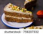 paleo raw vegan pistachio... | Shutterstock . vector #758207332