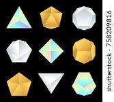 vector various jewelry silver... | Shutterstock .eps vector #758209816