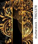 summer golden card with... | Shutterstock .eps vector #75821278
