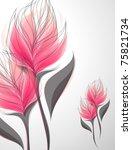 Stock vector vriesea shiny soft pink flowers vector illustration 75821734