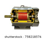 three phase induction motor to... | Shutterstock . vector #758218576