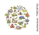superfood vector concept....   Shutterstock .eps vector #758218762