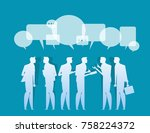 silhouette. business corporate... | Shutterstock .eps vector #758224372
