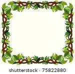 floral frame | Shutterstock .eps vector #75822880