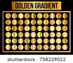 vector texture set of circle... | Shutterstock .eps vector #758229022