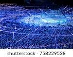 tokyo midtown illumination... | Shutterstock . vector #758229538