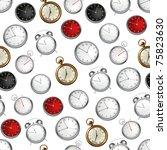 clock  seamless pattern 10eps | Shutterstock .eps vector #75823630