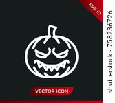 halloween pumpkin icon. holiday ... | Shutterstock .eps vector #758236726