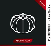 halloween pumpkin icon. holiday ... | Shutterstock .eps vector #758236762