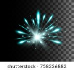 glow isolated white transparent ... | Shutterstock .eps vector #758236882