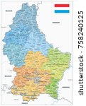 administrative divisions map of ... | Shutterstock .eps vector #758240125