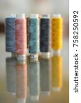 sewing threads multicolored | Shutterstock . vector #758250592