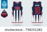 basketball uniform or sport... | Shutterstock .eps vector #758251282