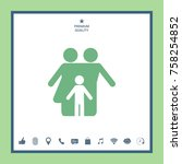 family with child   icon   Shutterstock .eps vector #758254852