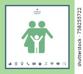 family icon symbol   Shutterstock .eps vector #758255722