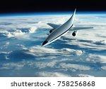 the concept of a futuristic... | Shutterstock . vector #758256868