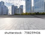 empty floor with modern... | Shutterstock . vector #758259436