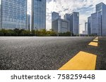 empty road with modern business ...   Shutterstock . vector #758259448