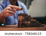 alternative risk concept  plan... | Shutterstock . vector #758268115