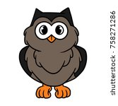 cartoon owl character | Shutterstock .eps vector #758271286