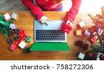 business woman hand holding... | Shutterstock . vector #758272306