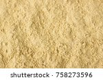 texture of powdered ginger... | Shutterstock . vector #758273596