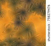 seamless pattern of openwork...   Shutterstock .eps vector #758279476