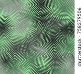 seamless pattern of openwork... | Shutterstock .eps vector #758279506