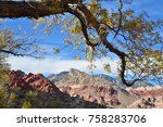 autumn in red rock canyon | Shutterstock . vector #758283706
