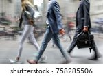 abstract image of business... | Shutterstock . vector #758285506