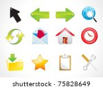 abstract shiny web icon set... | Shutterstock .eps vector #75828649