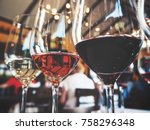 White And Red Wine On Glass