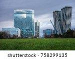 modern business buildings ...   Shutterstock . vector #758299135