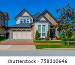 custom made luxury house with... | Shutterstock . vector #758310646