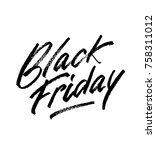 black friday sale banner. ... | Shutterstock .eps vector #758311012