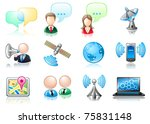 communication theme icon set | Shutterstock .eps vector #75831148