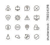 vr icon set. collection of high ...