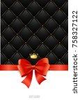 gift card paper template  silk... | Shutterstock .eps vector #758327122