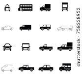 car icon set | Shutterstock .eps vector #758328952