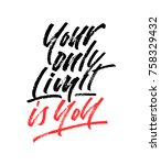 your only limit is you... | Shutterstock .eps vector #758329432