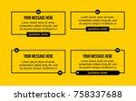 innovative set vector quotation ... | Shutterstock .eps vector #758337688