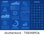 real estate infographic... | Shutterstock .eps vector #758348926