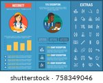maternity infographic template  ... | Shutterstock .eps vector #758349046