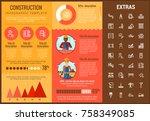 construction infographic... | Shutterstock .eps vector #758349085