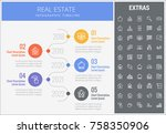 real estate infographic... | Shutterstock .eps vector #758350906