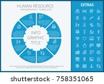 human resource infographic... | Shutterstock .eps vector #758351065